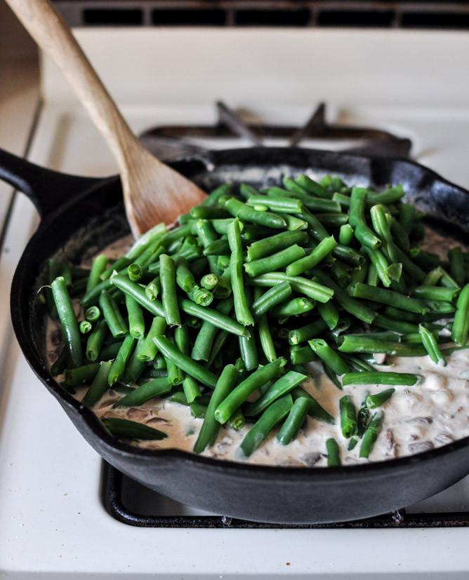 Fresh Green Bean Casserole  Lightened Up Fresh Green Bean Casserole