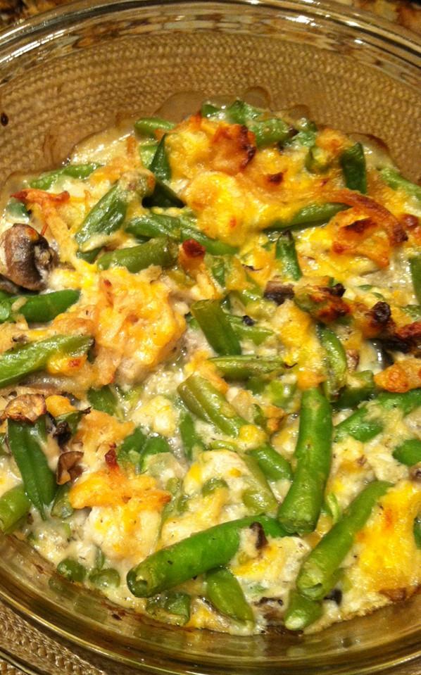 Fresh Green Bean Casserole  Fresh Green Bean Casserole with Rosemary