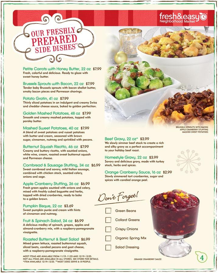 Fresh Market Thanksgiving Dinner  Fresh Market Christmas Dinner