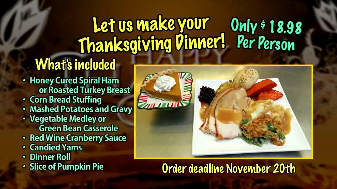 Fresh Market Thanksgiving Dinner  Thanksgiving Meal Deal 2017 California Fresh Market