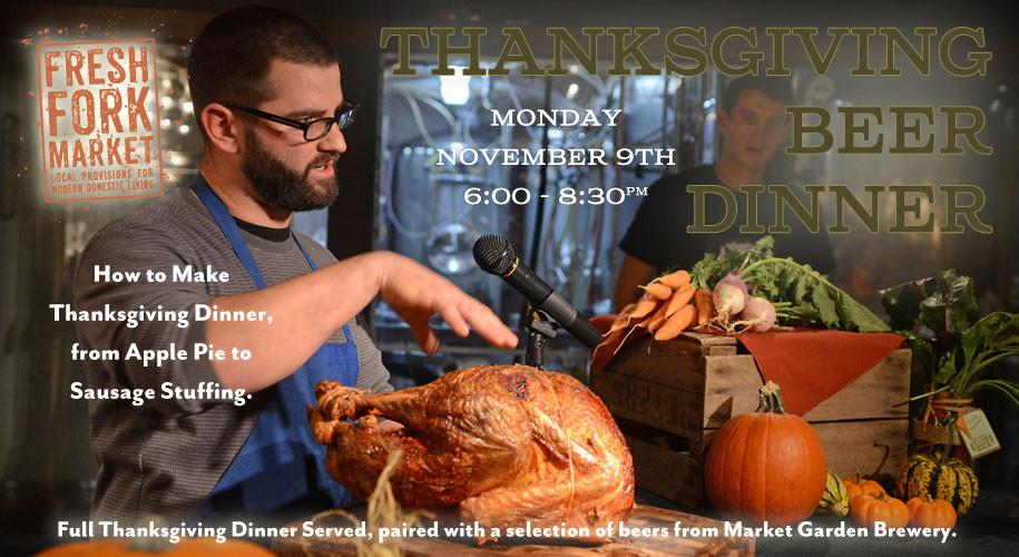 Fresh Market Thanksgiving Dinner  Thanksgiving Beer Dinner – Fresh Fork Market