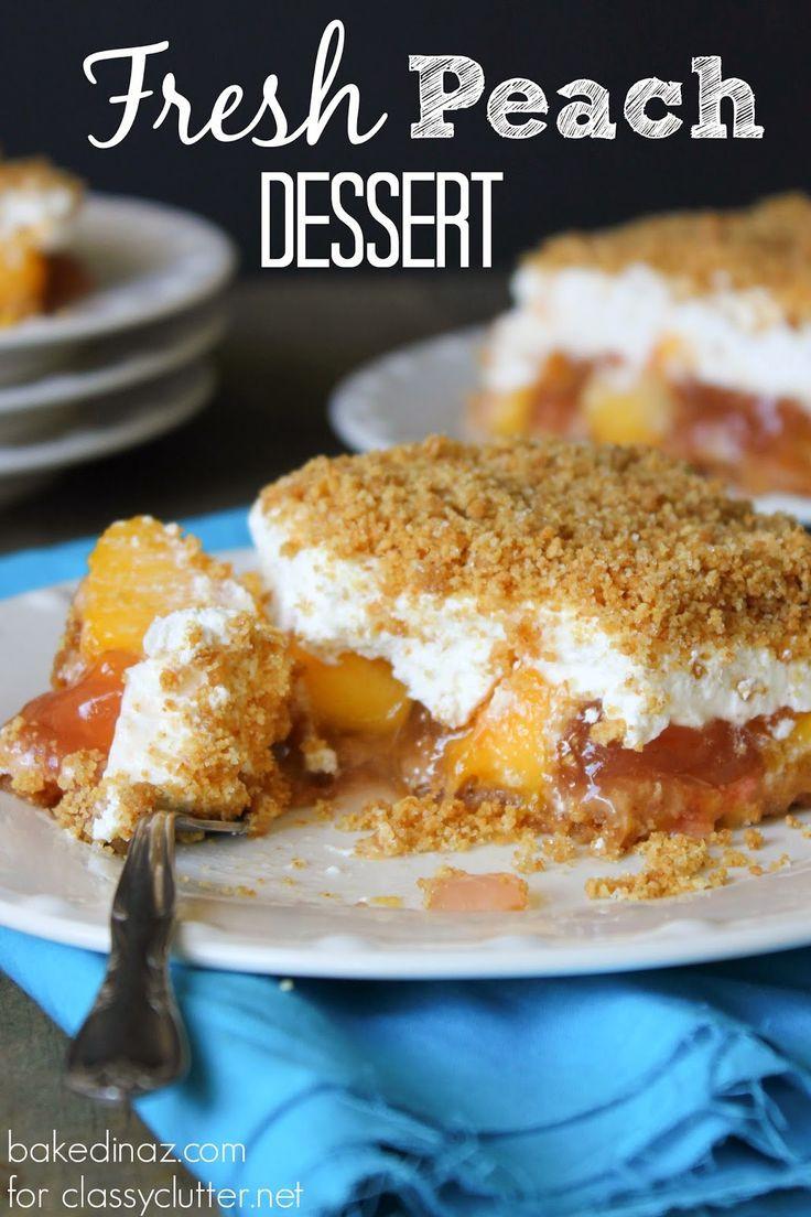 Fresh Peach Dessert  Pinterest • The world's catalog of ideas