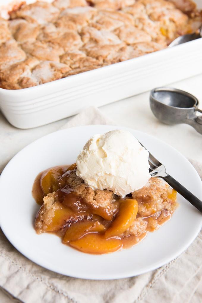 Fresh Peach Dessert  fresh peach dessert