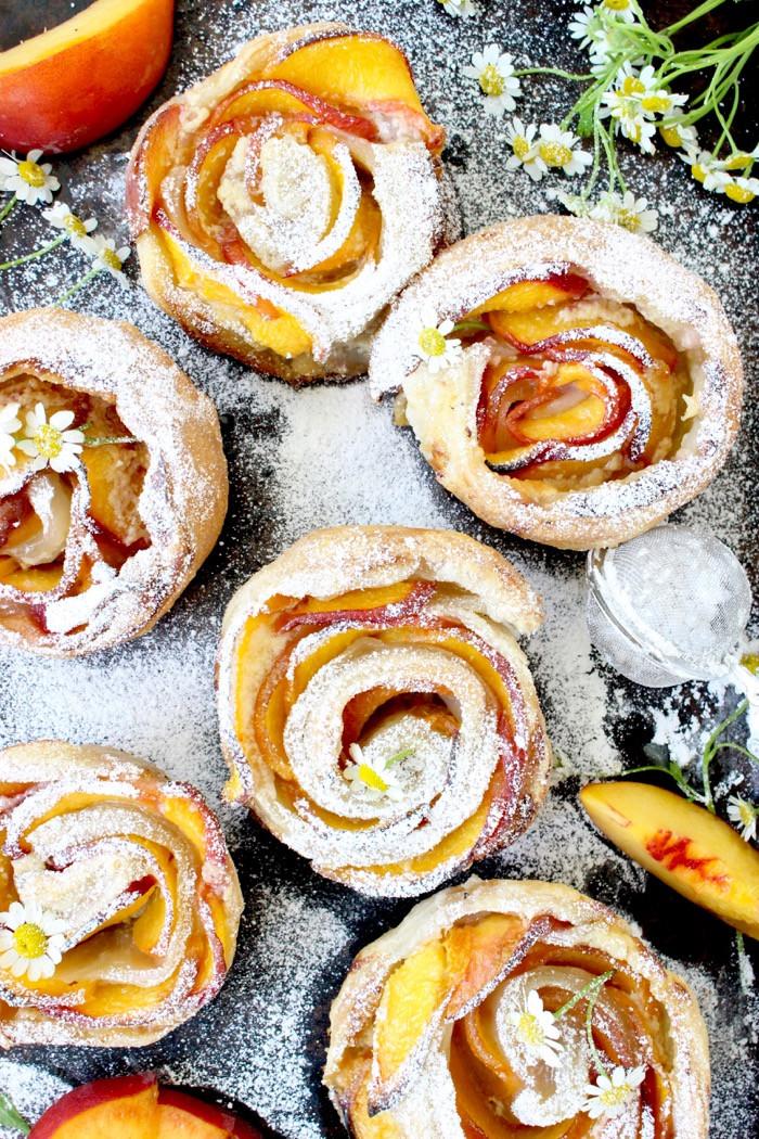 Fresh Peach Dessert Recipe  Fresh Peach Dessert Recipe with Mascarpone and Puff Pastry