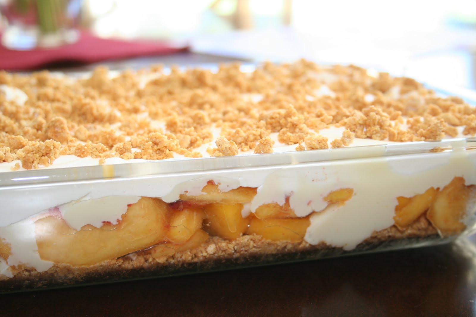 Fresh Peach Dessert Recipe  MY FAVORITE THINGS TO EAT FRESH PEACH DESSERT