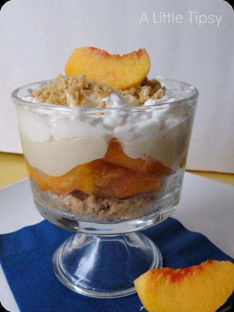 Fresh Peach Dessert  Fresh Peach Dessert A Little Tipsy