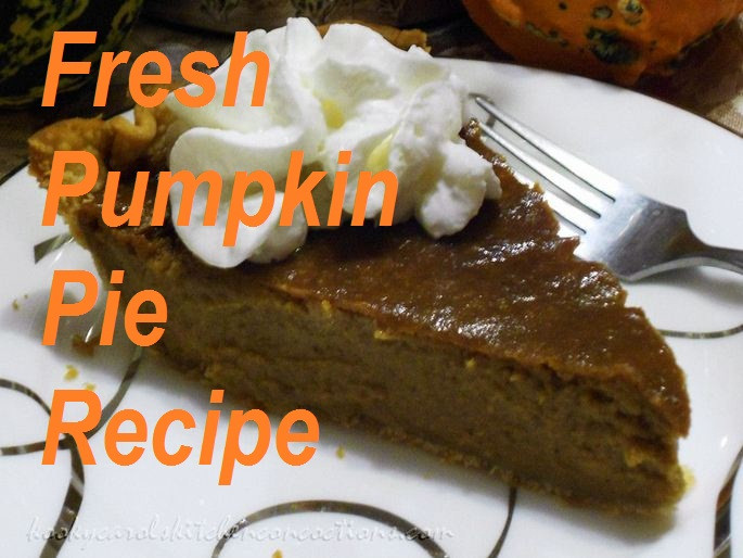 Fresh Pumpkin Pie Recipe  Mom's Homemade Fresh Pumpkin Pie Recipe