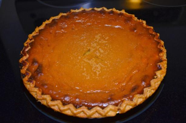 Fresh Pumpkin Pie Recipe  Bambys Fresh Home Made Pumpkin Pie Recipe Food