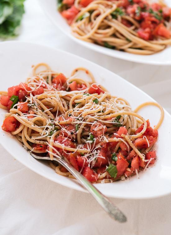 Fresh Spaghetti Sauce  Spaghetti with Fresh Tomato Sauce Cookie and Kate