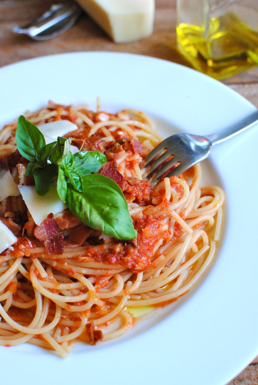 Fresh Spaghetti Sauce  Quick Spaghetti with a Fresh Tomato Sauce