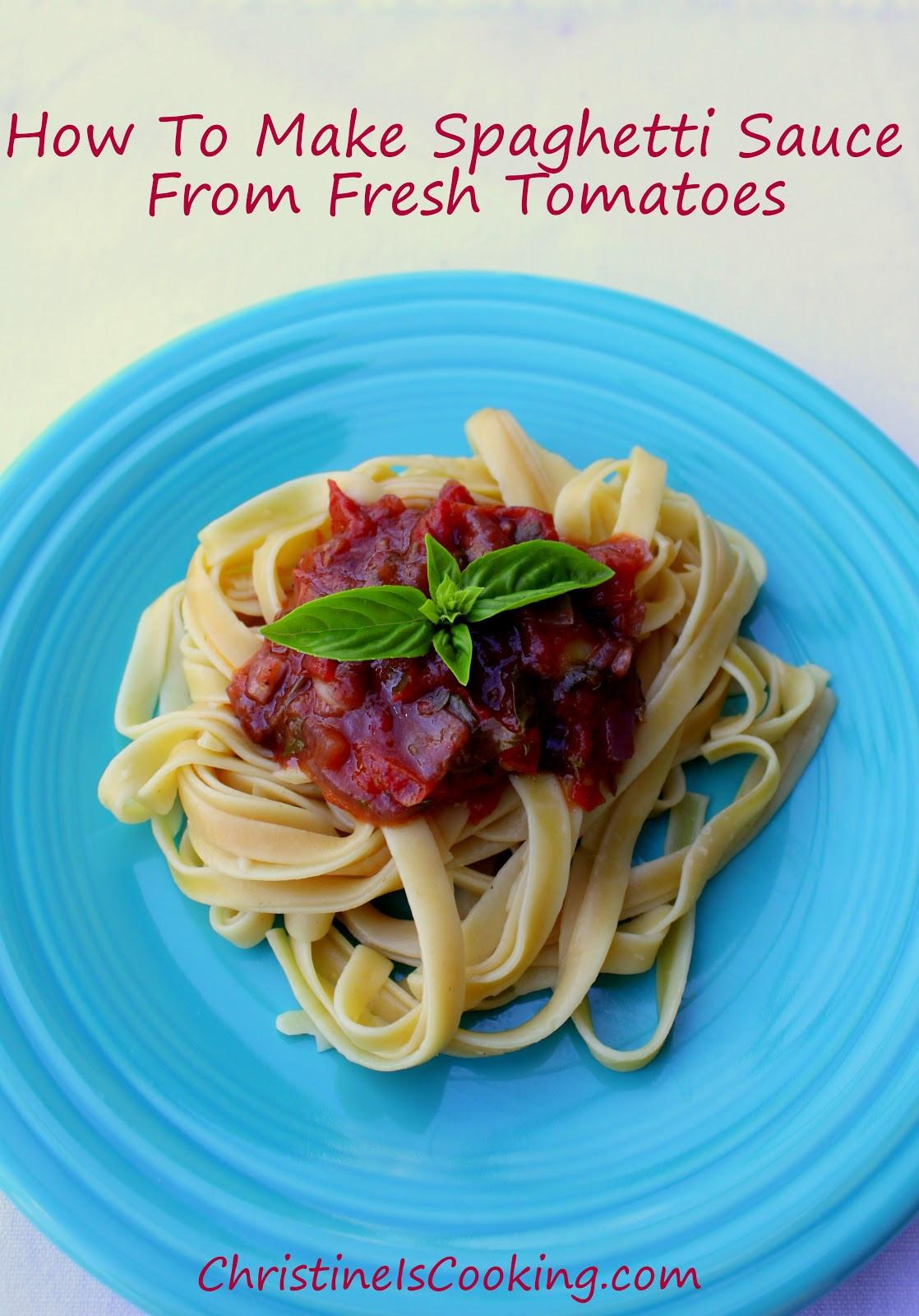 Fresh Spaghetti Sauce  christineiscooking How To Make Spaghetti Sauce From