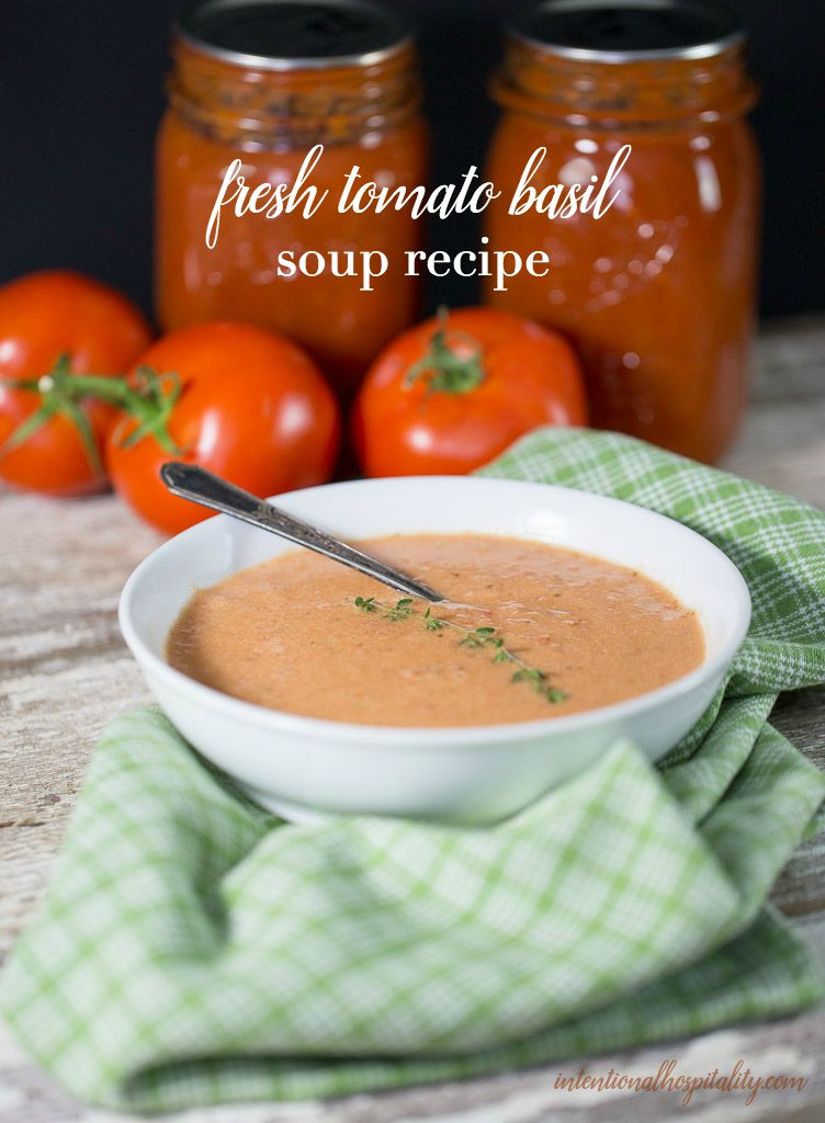 Fresh Tomato Soup Recipe  Fresh tomatoes basil butter and cream create a warm