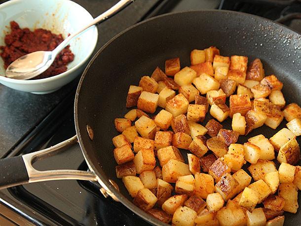 Fried Breakfast Potatoes  Breakfast Tacos with Crispy Potatoes Chorizo and Fried