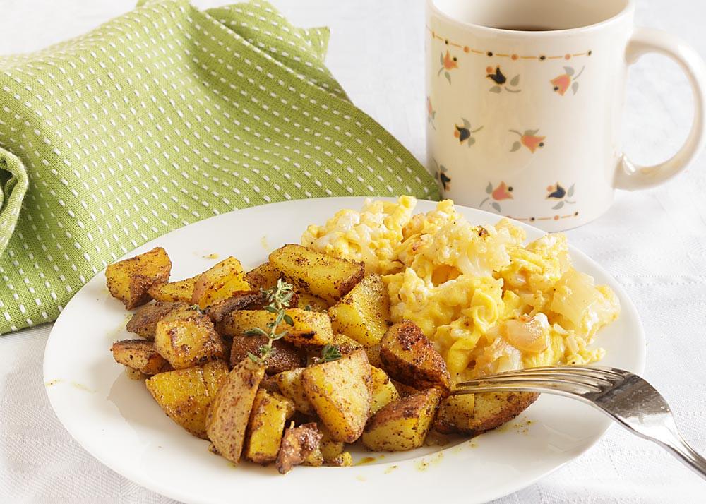 Fried Breakfast Potatoes  Spicy Fried Breakfast Potatoes with Turmeric Art of