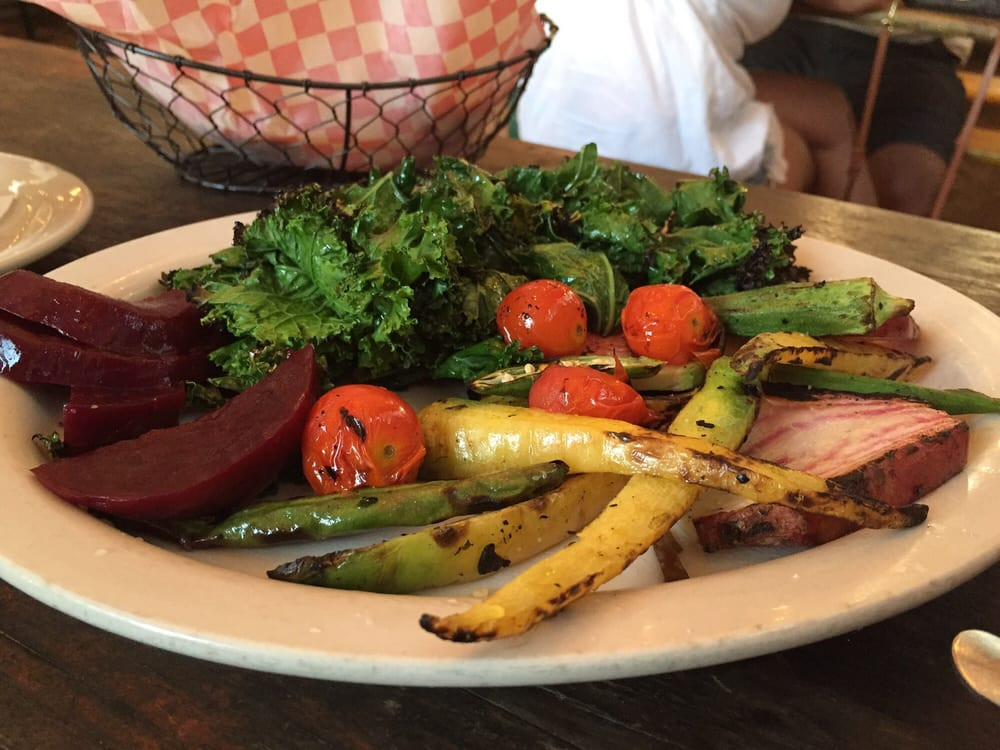 Fried Chicken Austin  Grilled farm ve ables a little bit of healthy to go