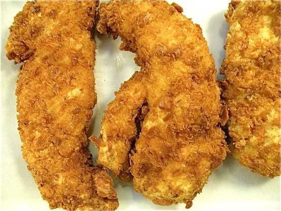 Fried Chicken Fingers  Deep Fried Chicken Fingers with Crispy Cheez It Crust