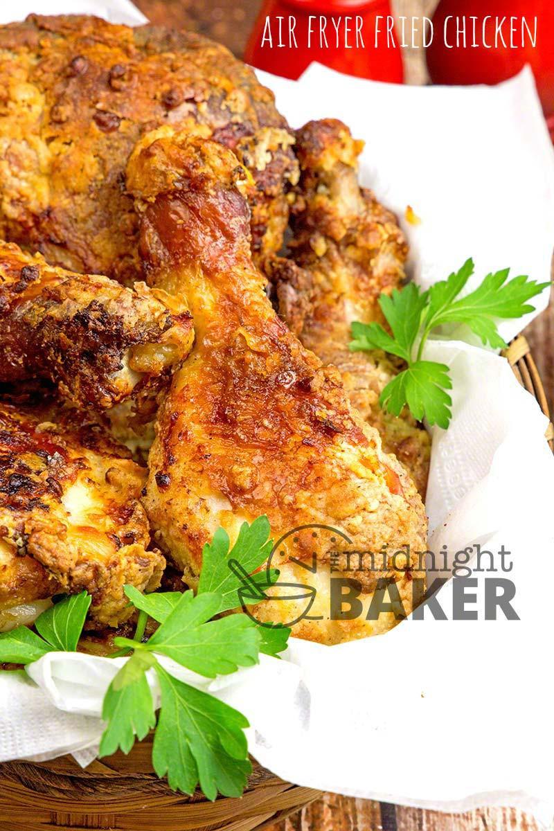 Fried Chicken In Air Fryer  Crispy Low Fat Air Fryer Chicken The Midnight Baker