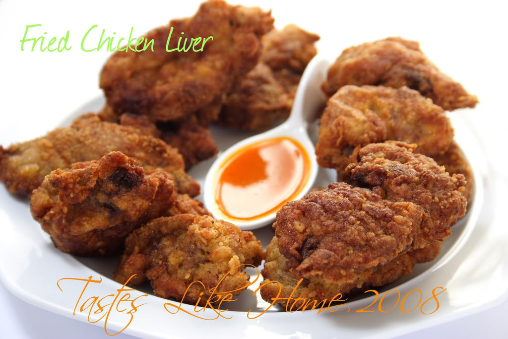 """Fried Chicken Liver  tastes like home It s """" fally"""" Good"""