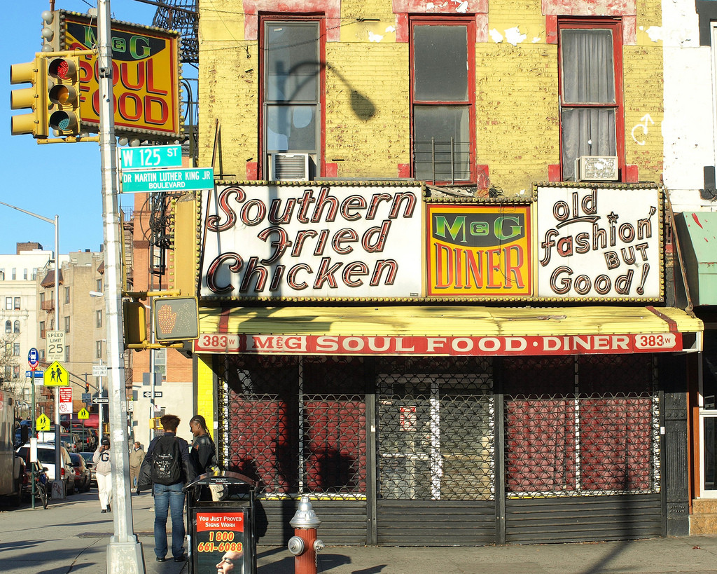 Fried Chicken Nyc  Southern Fried Chicken M&G Soul Food Diner Harlem NYC