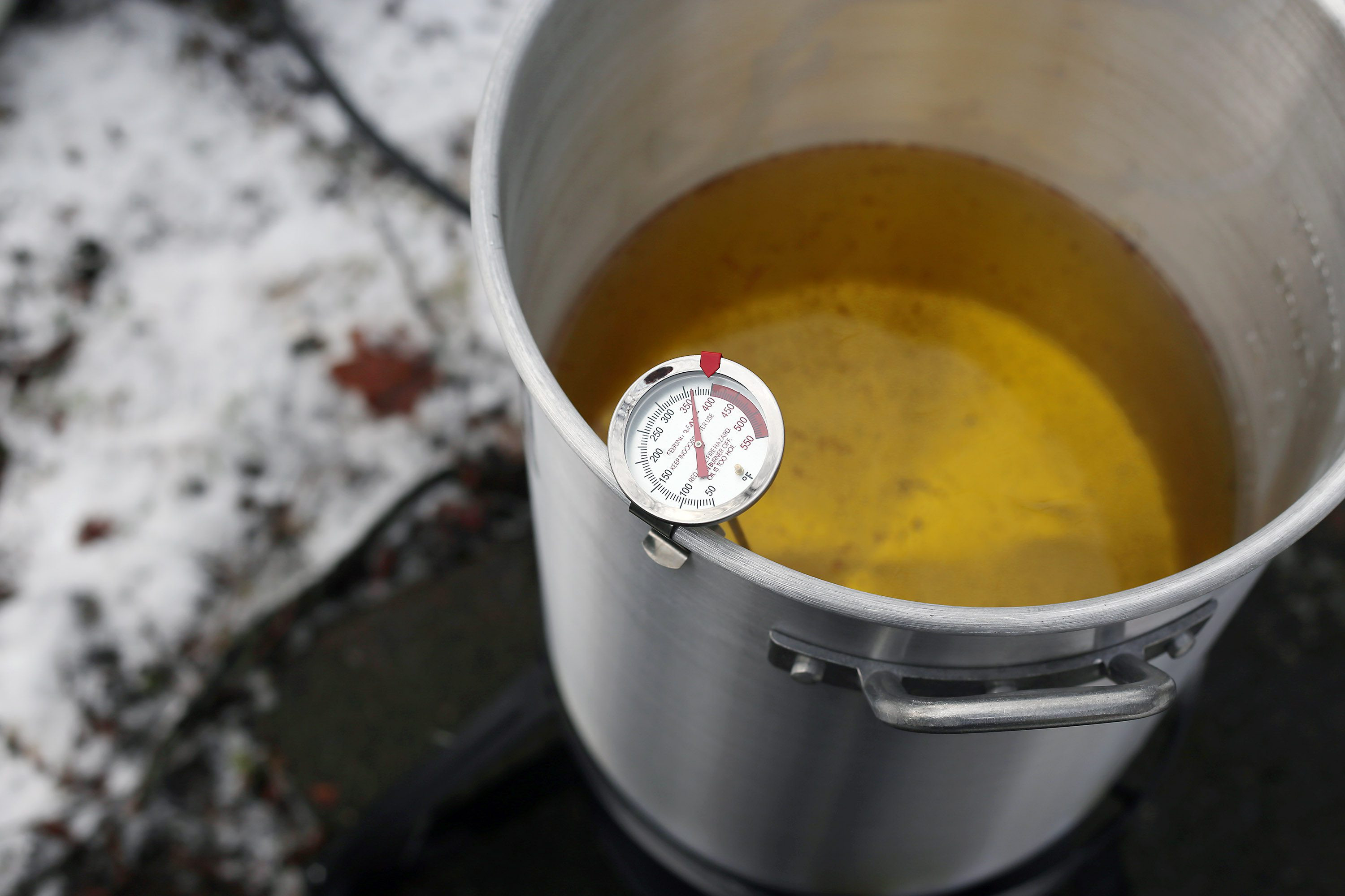 Fried Chicken Oil Temp  How to Deep Fry a Whole Chicken in Peanut Oil