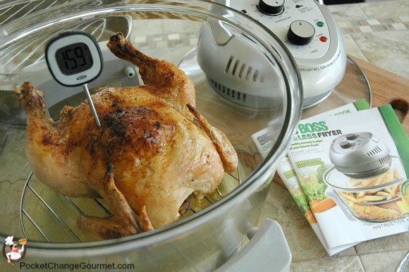 Fried Chicken Oil Temp  Whole Chicken cooked in Big Boss Oil Less Fryer Recipe