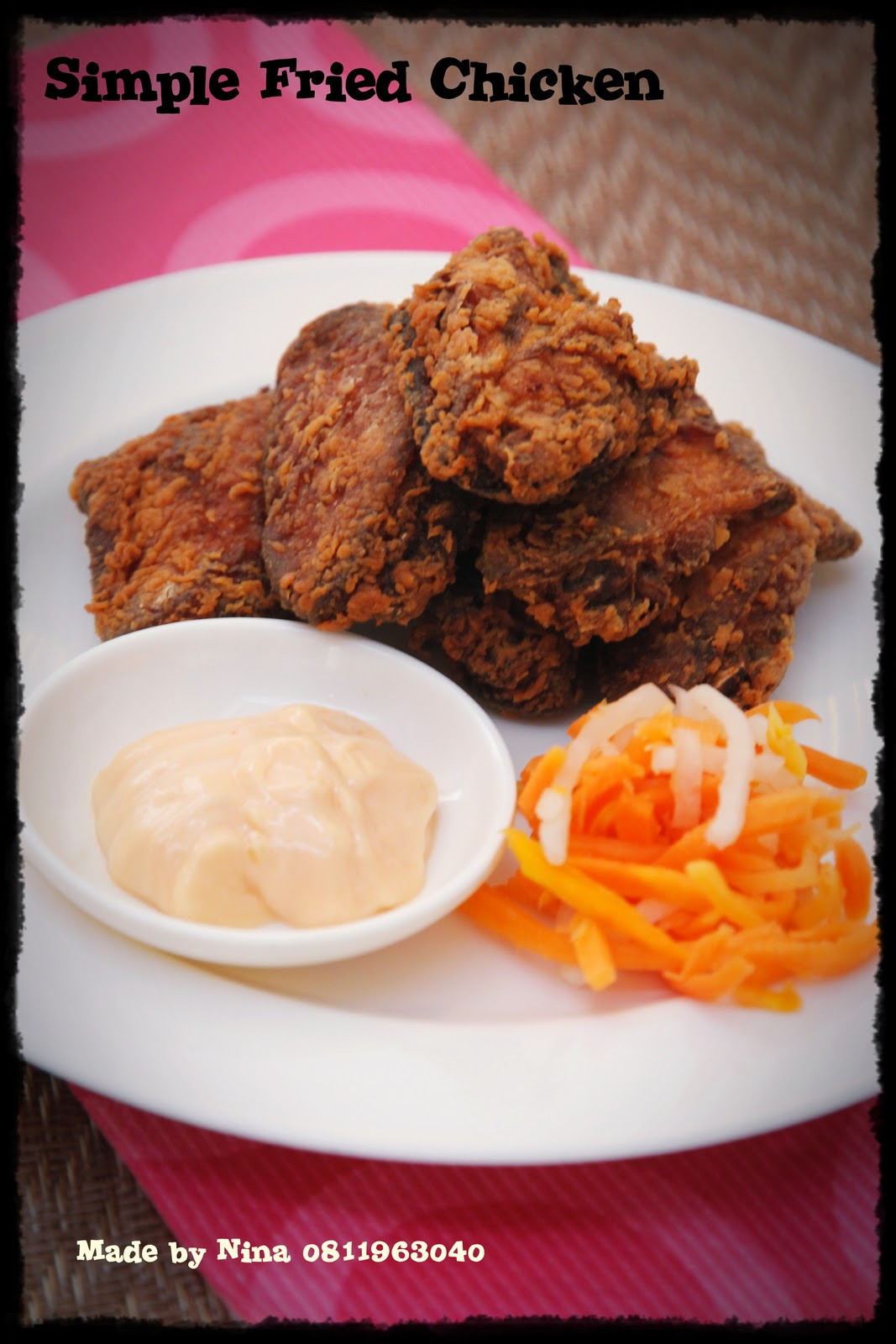 Fried Chicken Recipe Easy  Simple Fried Chicken Recipe — Dishmaps