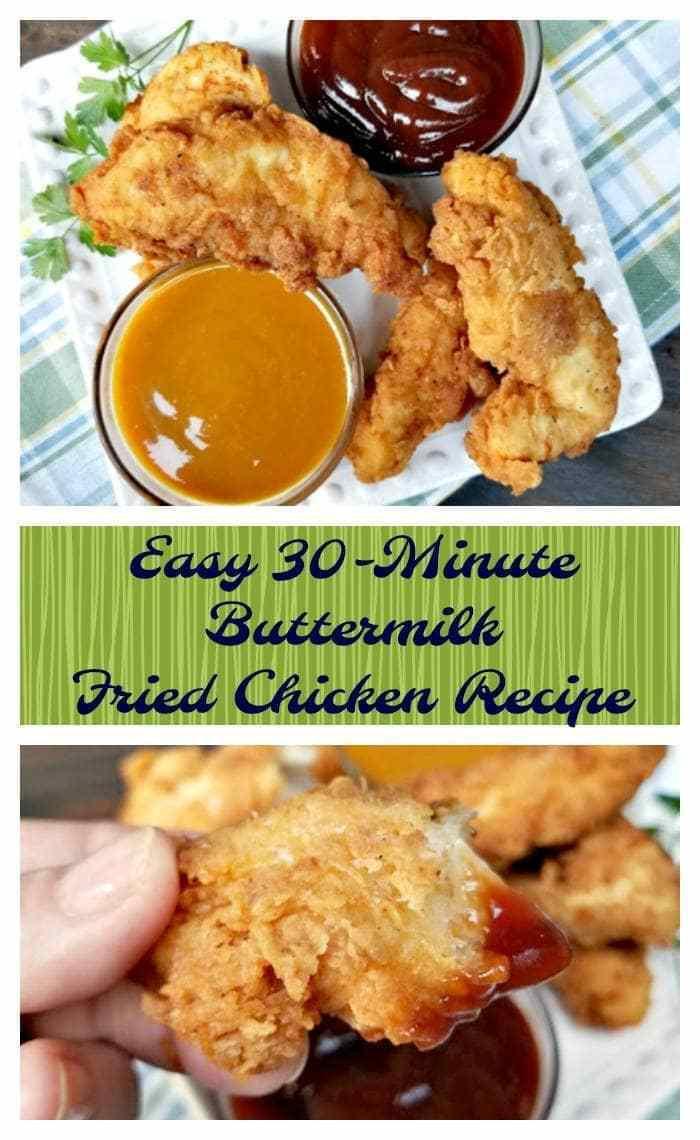Fried Chicken Recipe Easy  Super Easy 30 Minute Buttermilk Fried Chicken Recipe