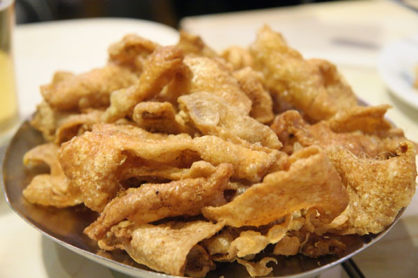 Fried Chicken Skin  Modern Vespa Liver and onions