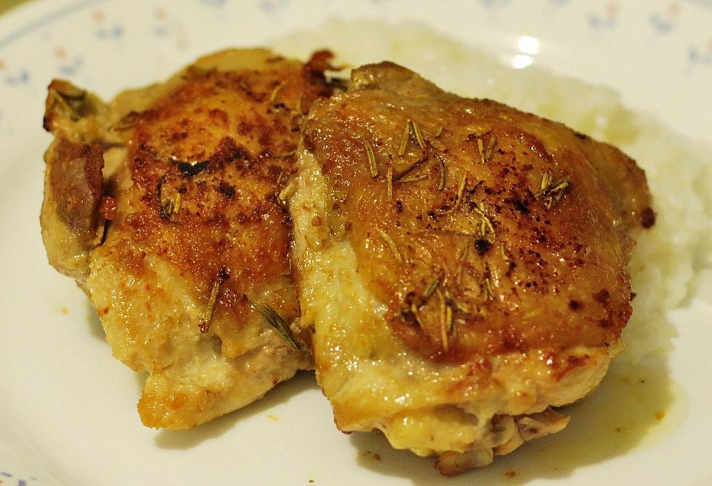 Fried Chicken Thighs  deep fried chicken legs