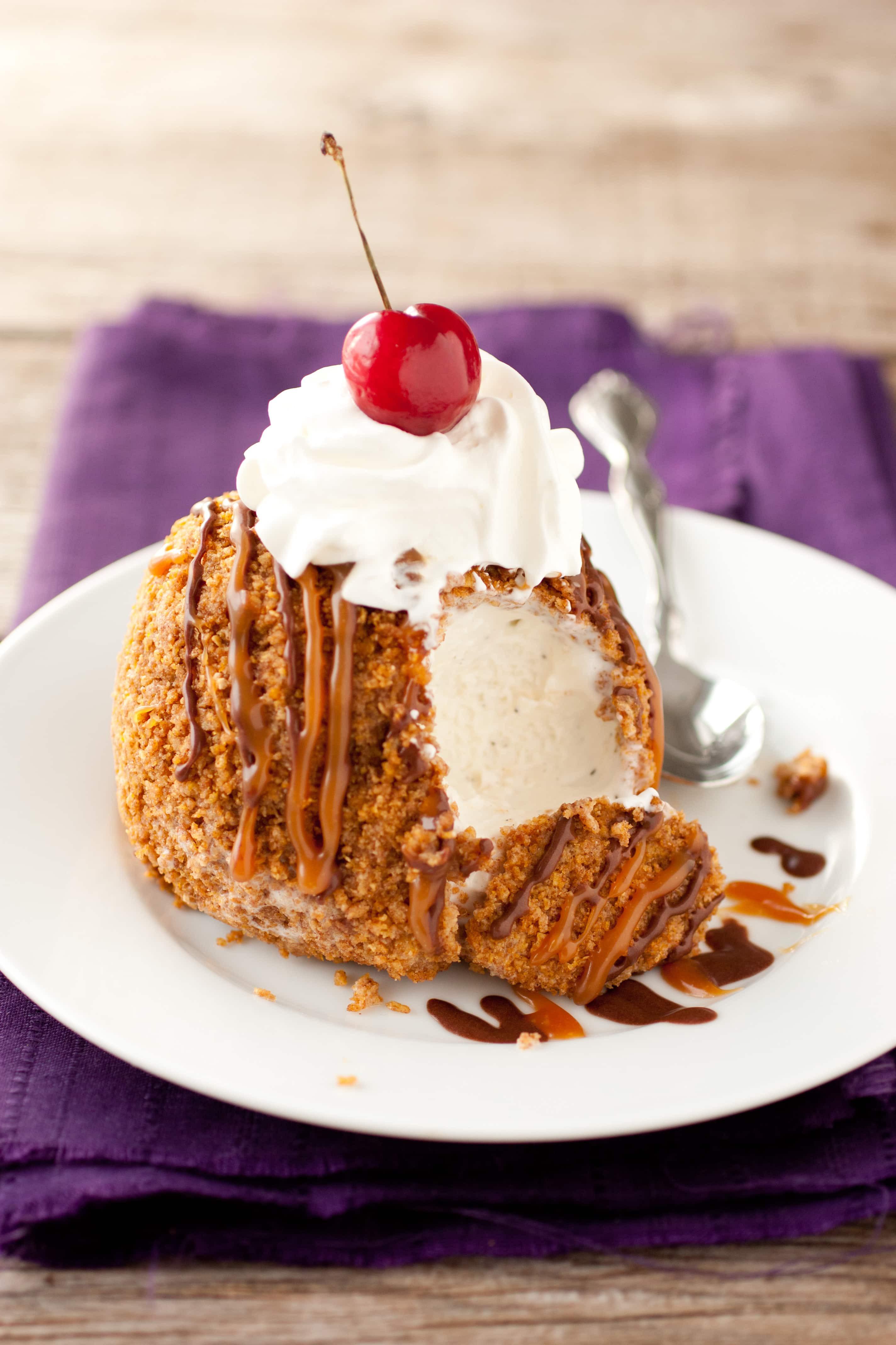 Fried Ice Cream Dessert  Cheaters Fried Ice Cream Cooking Classy