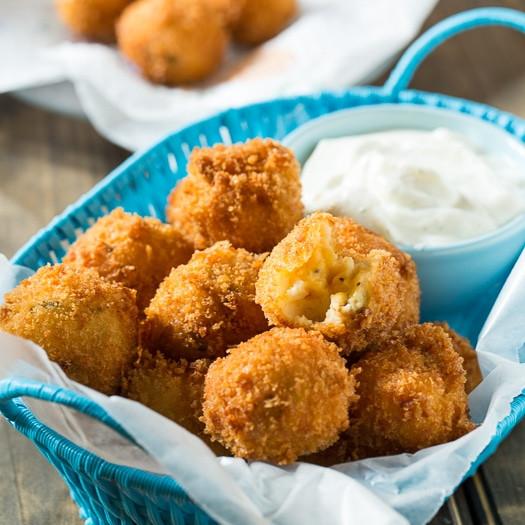 Fried Mashed Potatoes  Fried Mashed Potato Balls Spicy Southern Kitchen