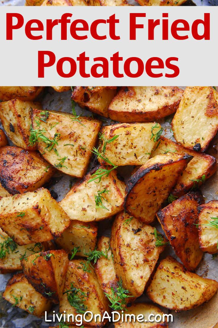 Fried Potato Recipes  Easy Fried Potatoes Recipe Living on a Dime