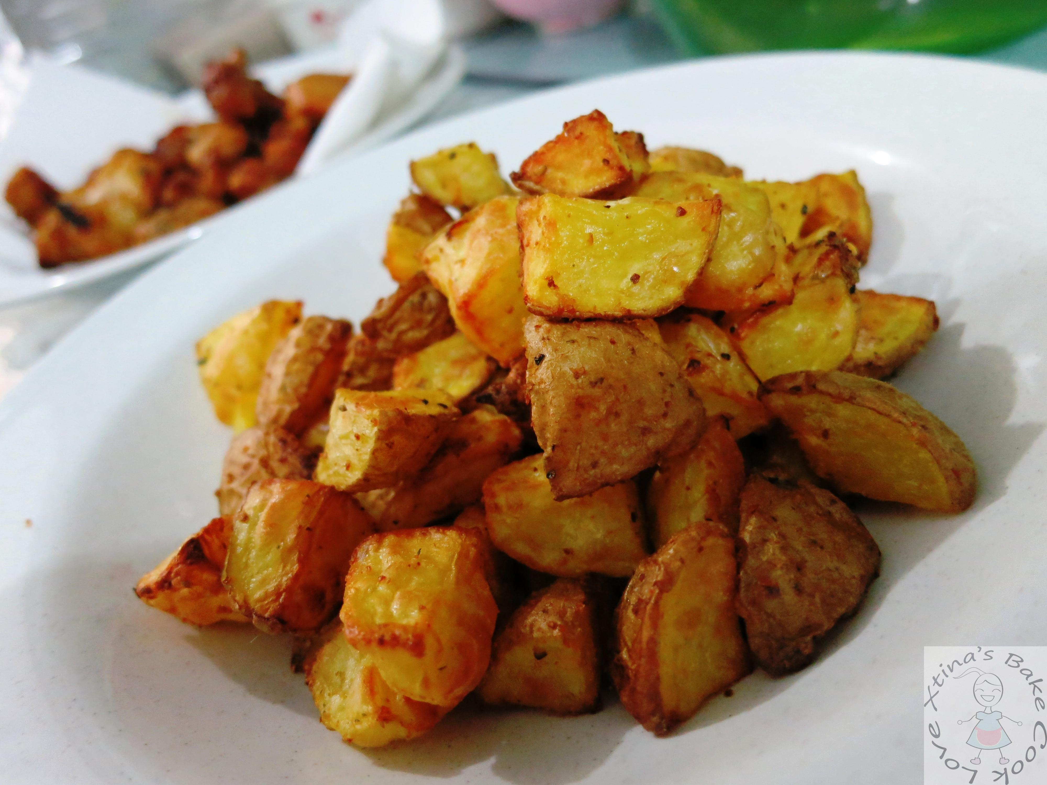 Fried Potato Recipes  Air Fried Potato Cubes