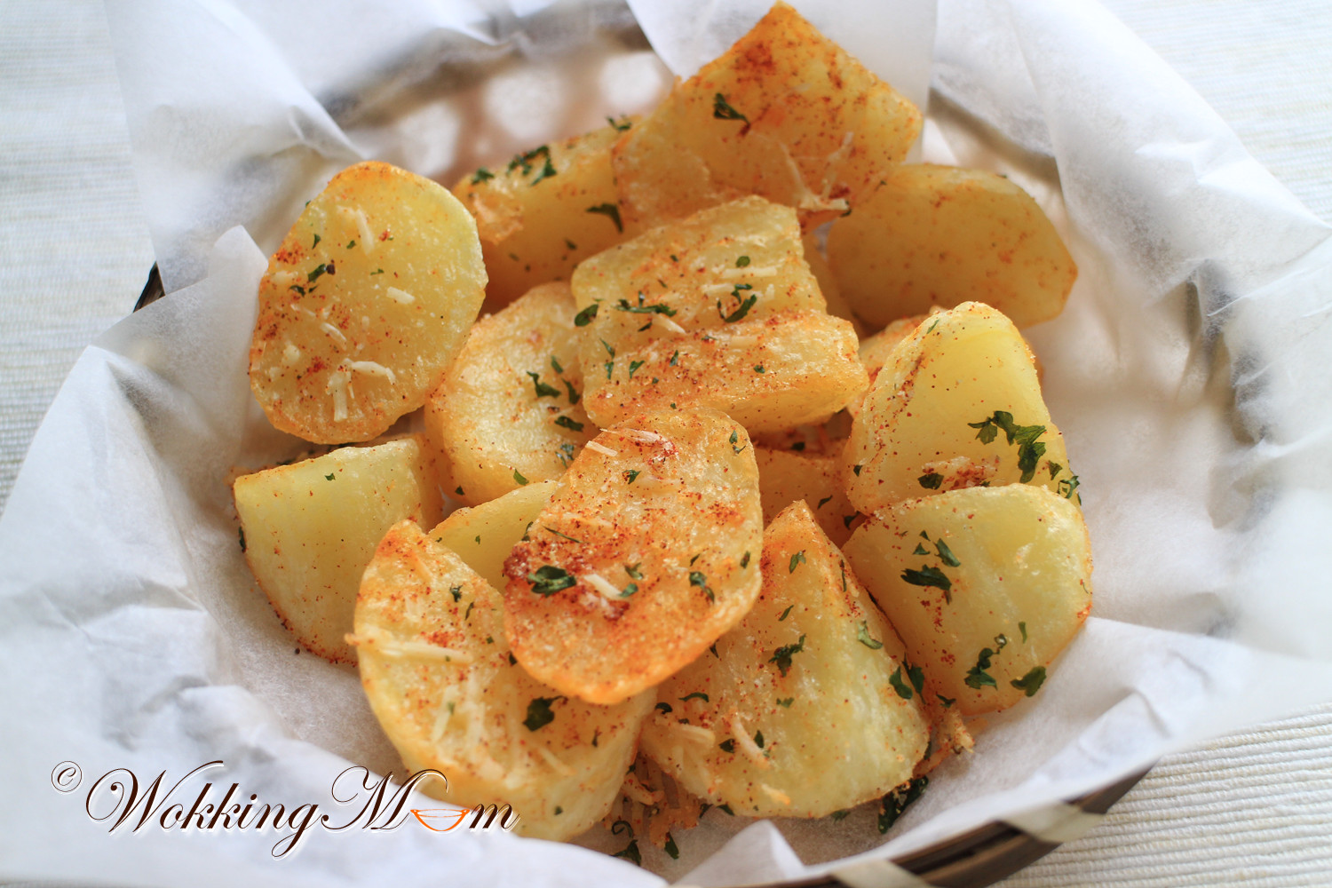 Fried Potato Recipes  Let s Wokking Fried Potato Wedges with Paprika and