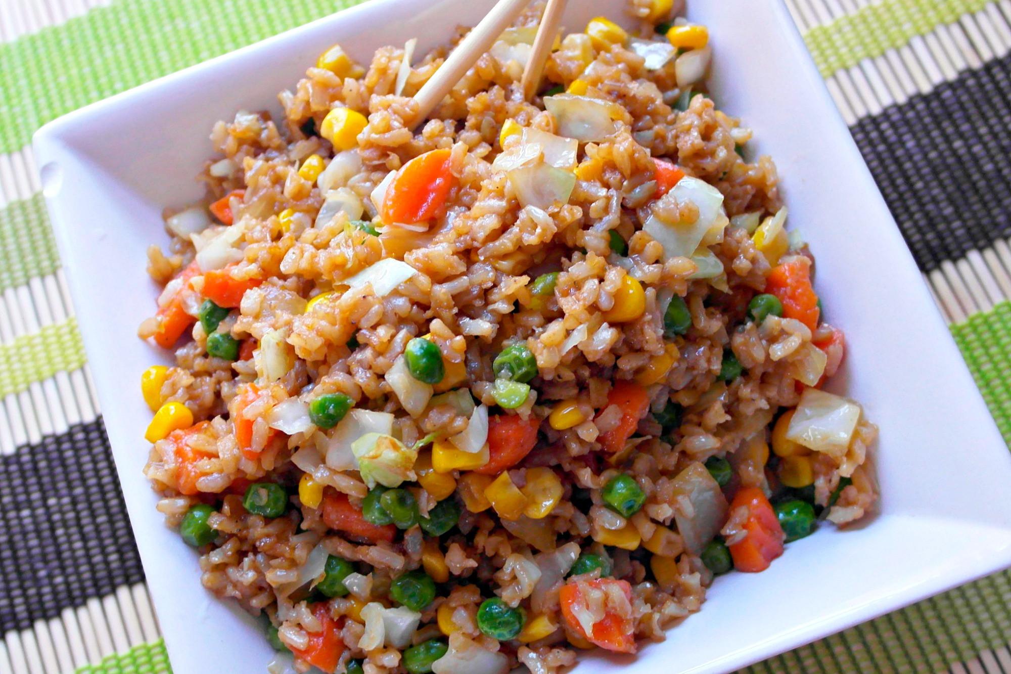 Fried Rice Recipe Easy  Easy Fried Rice Recipe Teaspoon Goodness
