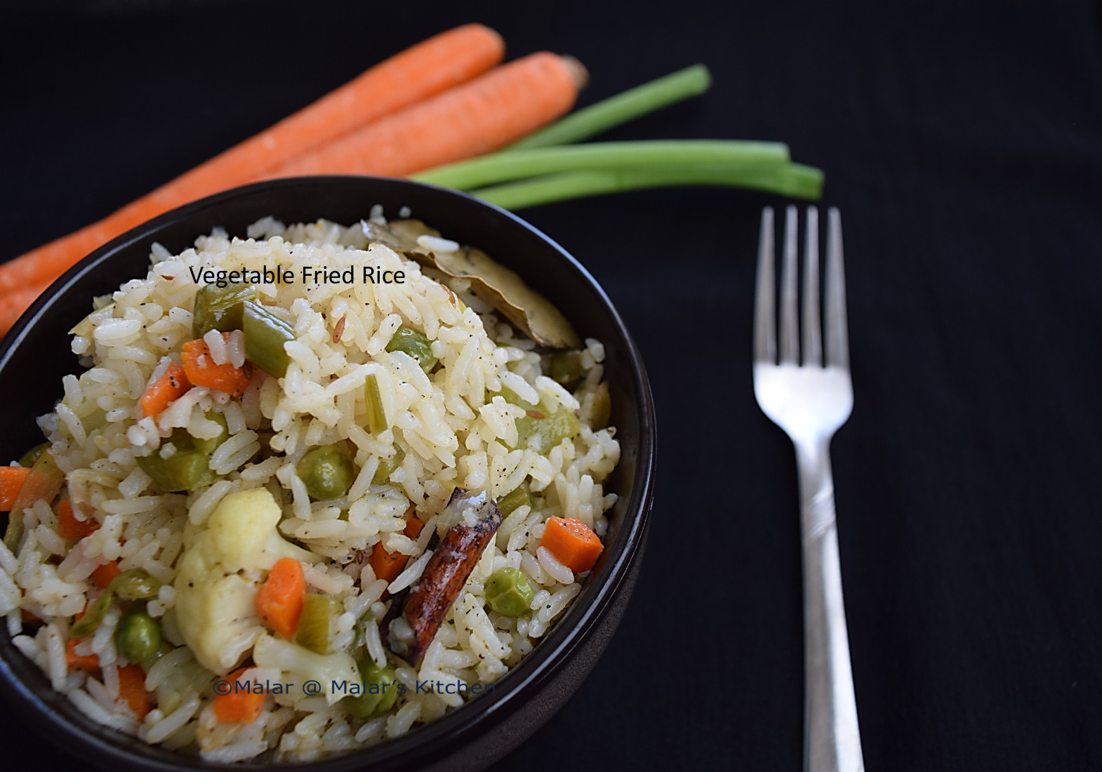 Fried Rice Without Soy Sauce  Ve able Fried Rice Indian Style without soy sauce