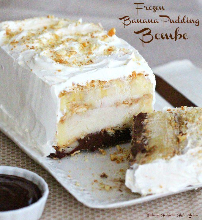 Frozen Banana Dessert  Frozen Banana Pudding Bombe melissassouthernstylekitchen