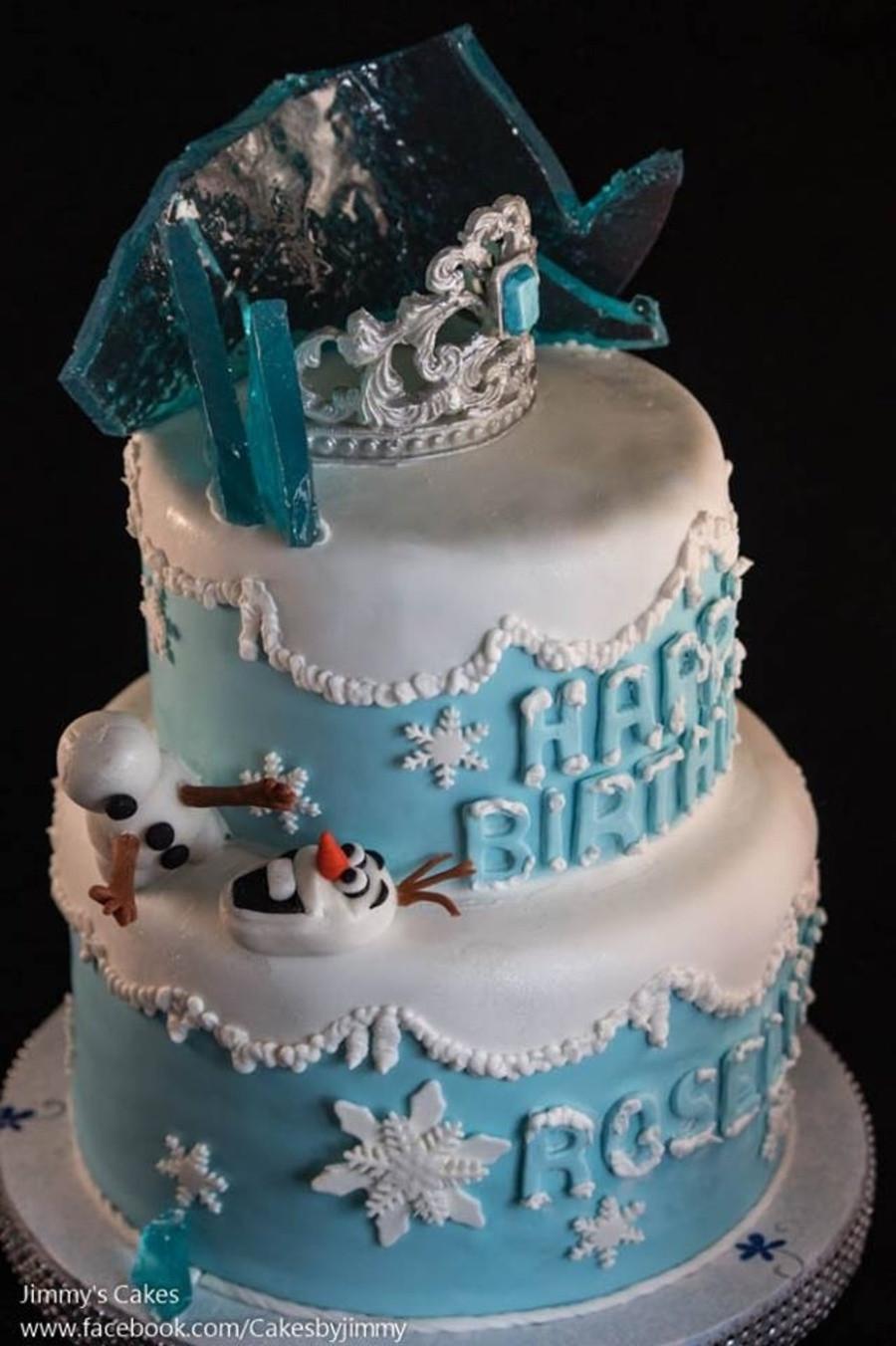 Frozen Birthday Cake  Disney Frozen Birthday Cake CakeCentral