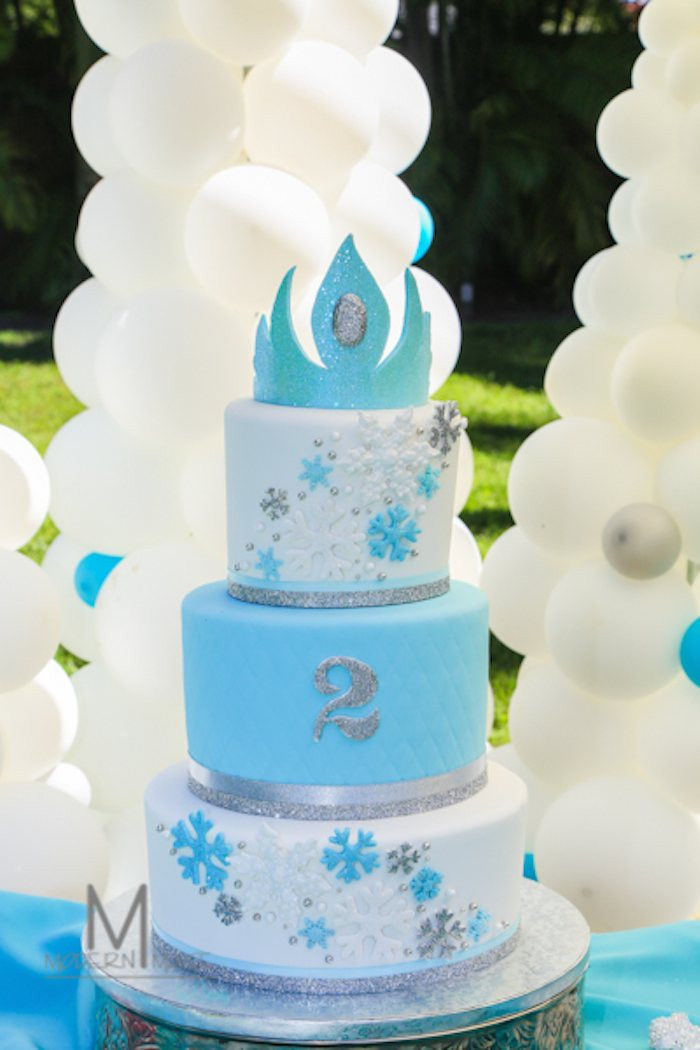 Frozen Birthday Cake  Disney s Frozen Inspired Birthday Party Ideas Decor