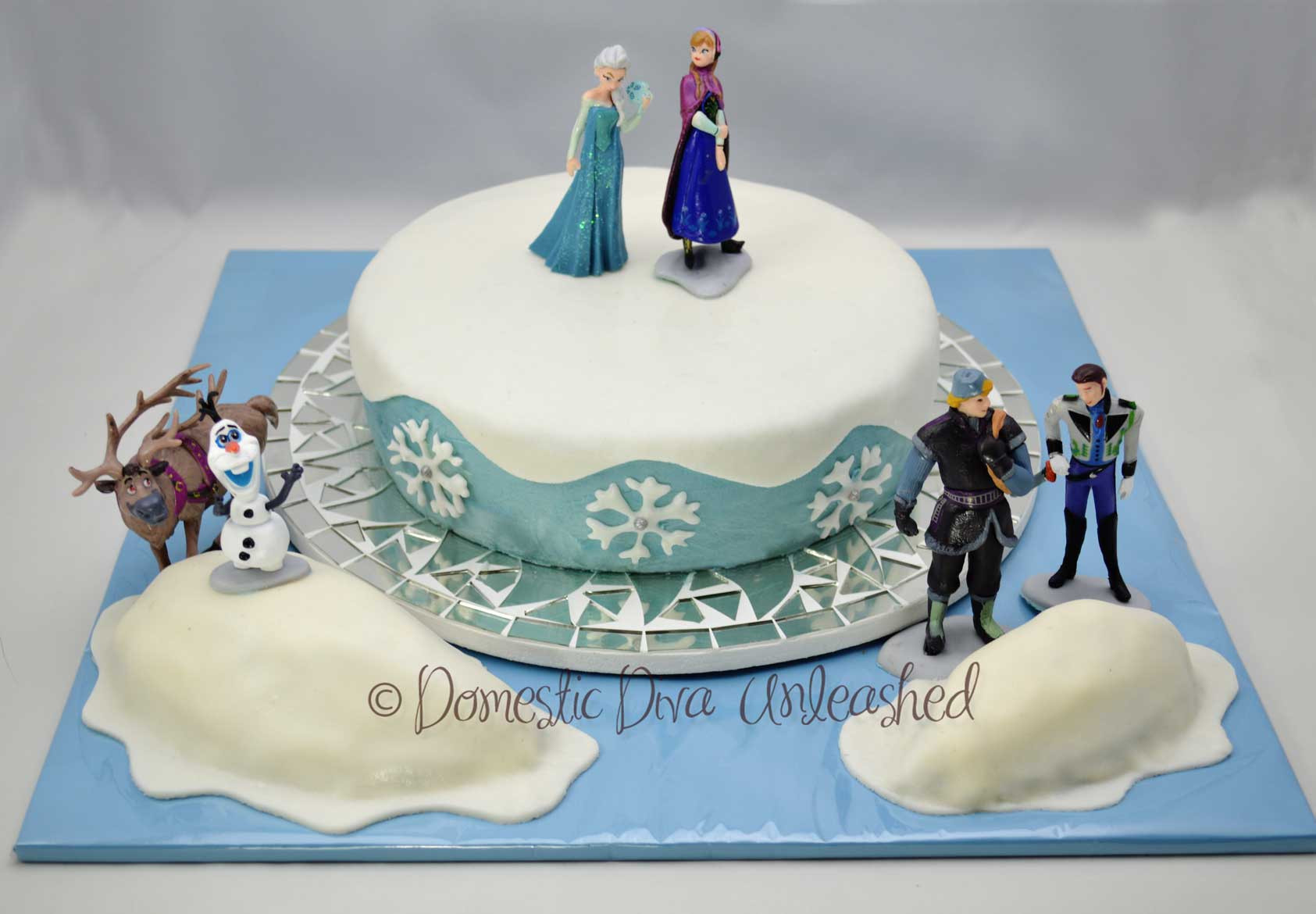 Frozen Birthday Cake  Frozen Birthday Cake — Domestic Diva Unleashed