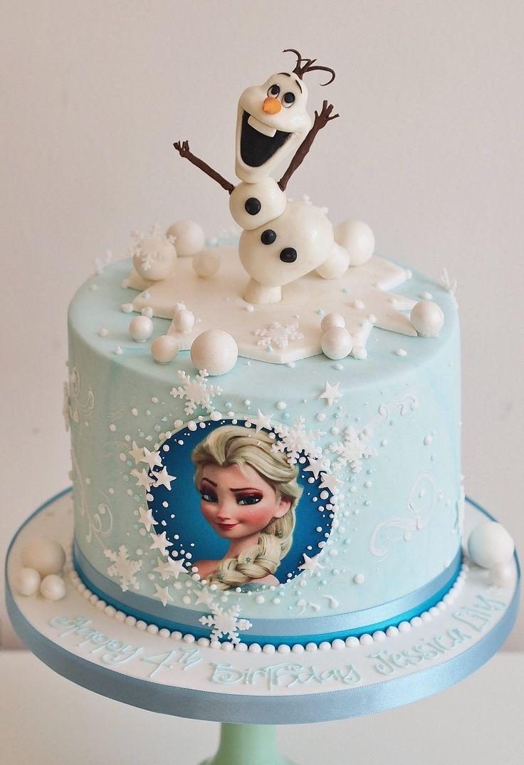 Frozen Birthday Cake  Frozen Theme – RedRidingHoodBakery
