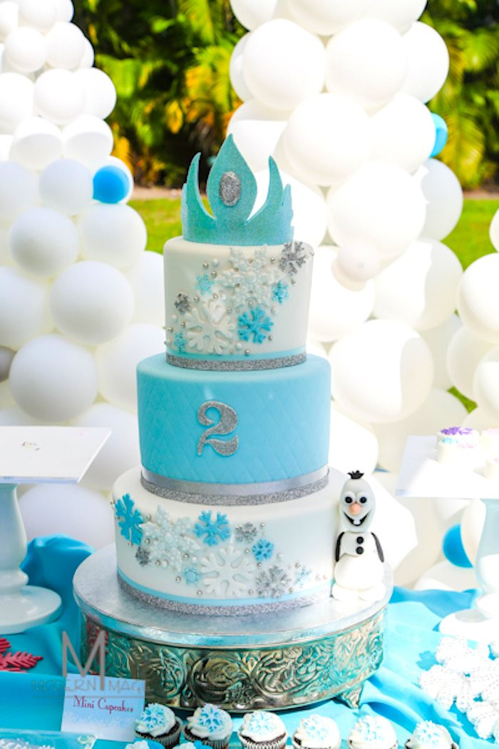 Frozen Birthday Cake  BRRRR Frozen Party Ideas B Lovely Events