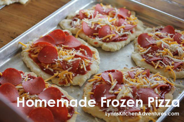 Frozen Breakfast Pizza  Homemade Frozen Pizza Lynn s Kitchen Adventures