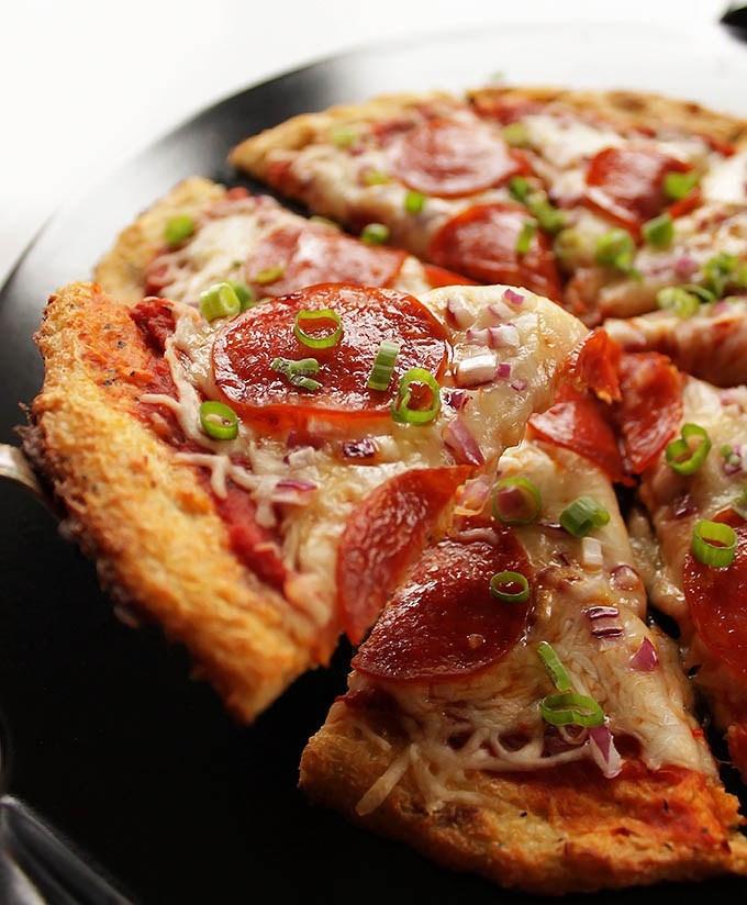 Frozen Cauliflower Pizza Crust  Easy Cauliflower Pizza Crust GF Robust Recipes