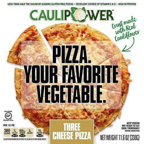 Frozen Cauliflower Pizza Crust  Cauliflower Crust Pizzas veggie pizzas
