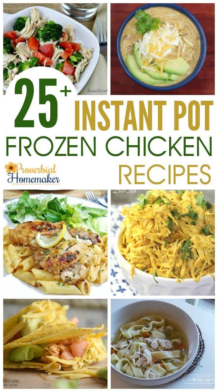 Frozen Chicken Recipes For Dinner  25 Instant Pot Frozen Chicken Recipes