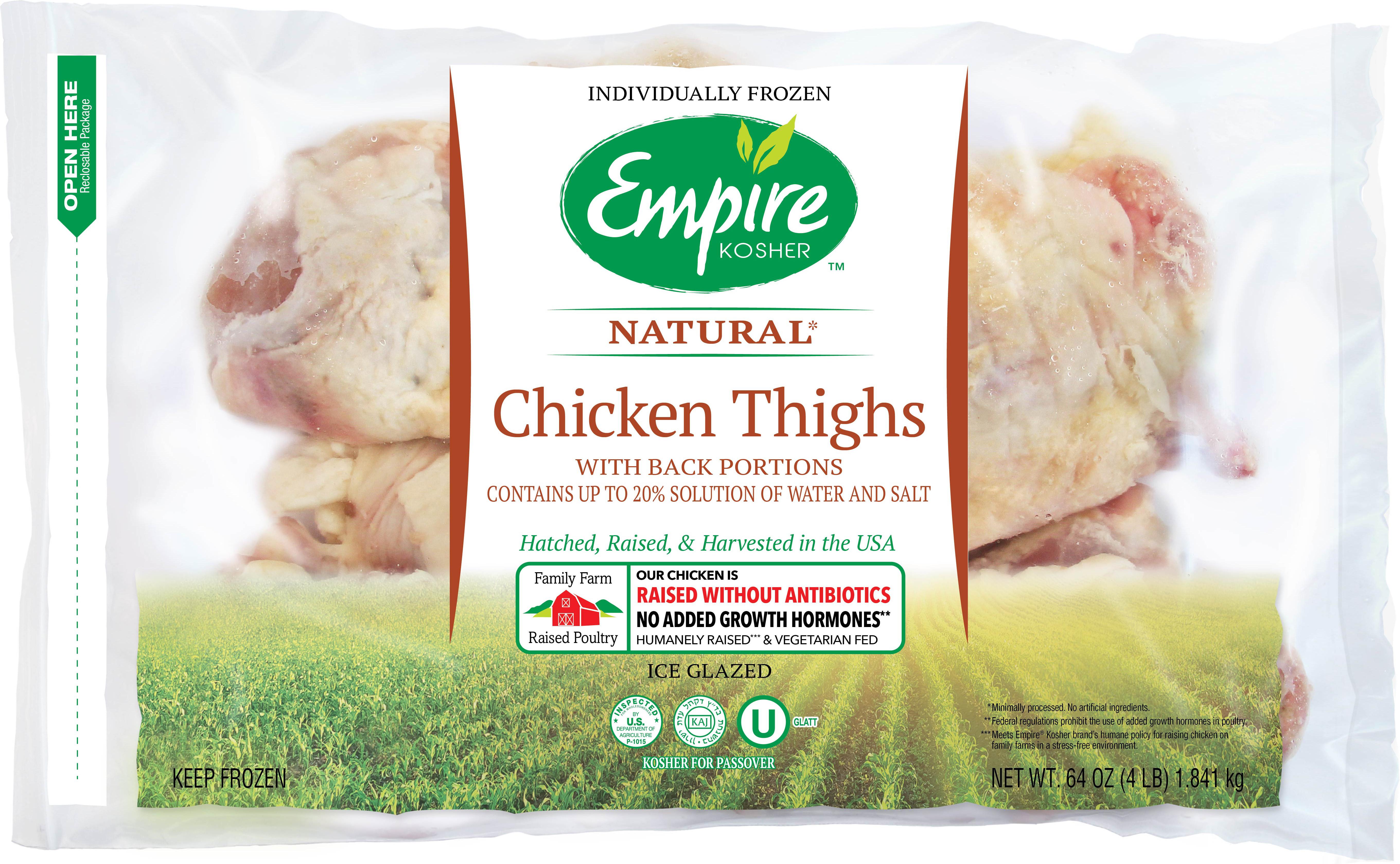Frozen Chicken Thighs  Empire Kosher