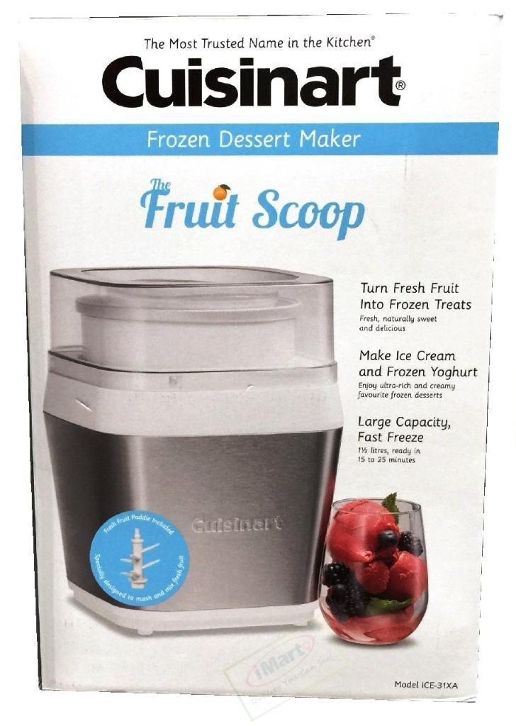 Frozen Dessert Brand  Cuisinart Fruit Scoop Frozen Dessert Maker ICE 31XA Brand