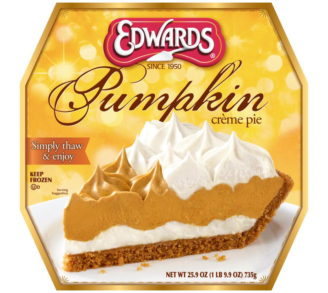Frozen Dessert Brand  News Edwards New Pumpkin Creme Pie