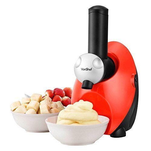 Frozen Dessert Maker  VonShef Frozen Yogurt Fruit Ice Cream Smoothie Dessert